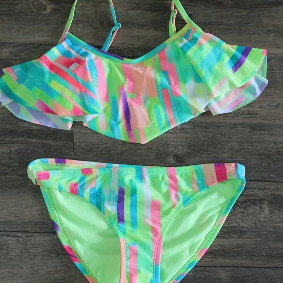 Xhilaration Tie-Dye Bikini Bathing Suit